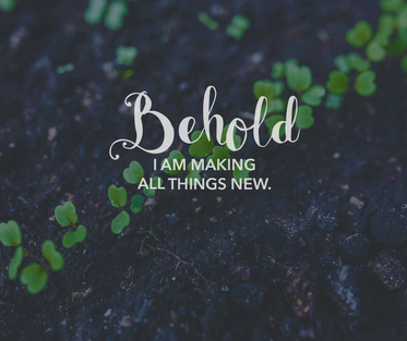 behold, I am making all things new - United Methodist Church of the Pines